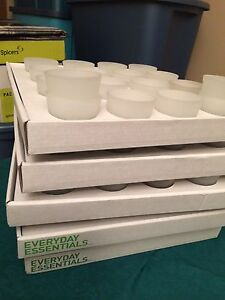Frosted glass candle holders- perfect for a wedding or event Edmonton Edmonton Area image 2