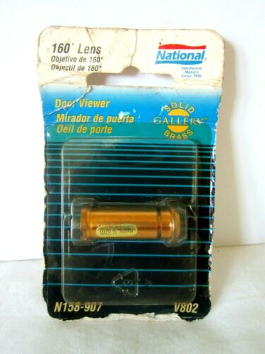 Vintage 1996 Brass Door Viewer Peep Hole 160 Lens Solid Brass Gallery V802