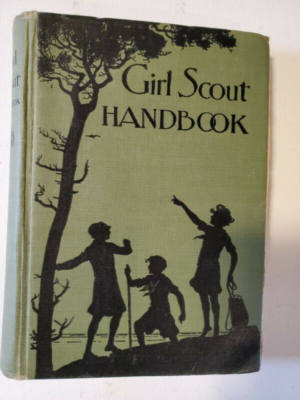 1930 Girl Scout Handbook Revised Edition - Antique Vintage Girl Scout Book