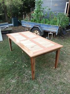 Recycled Timber Dining Table - Handmade