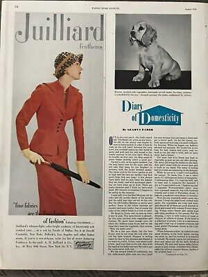 Juilliard Feathory~Fine Fabrics Are The Foundation~1950 Vintage Print AD A47
