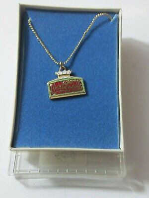 VINTAGE GOLD FILLED COCA COLA PENDANT NECKLACE JEWELRY