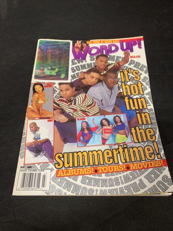 Word Up Magazine July 1999 Rare Jay Z Fold Out  Vintage Rap. (M1)