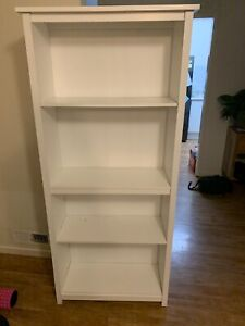 Bookcase White Very Good Condition 5 Shelf Book Case