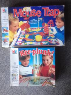 Mouse Trap and Ker Plunk board games