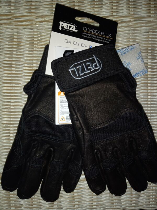 New! PETZL Cordex Plus K53 Leather Gloves Climbing Rappel Belay Size LARGE - NWT