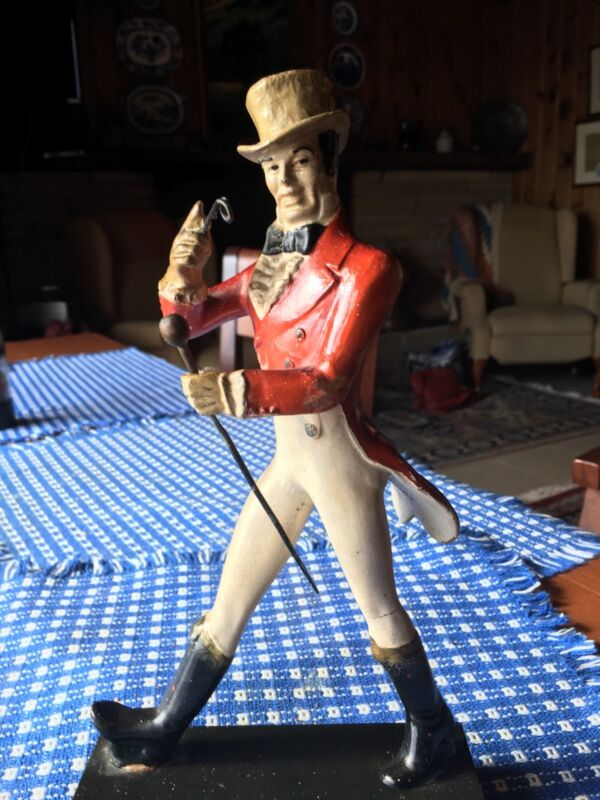 Vintage Johnnie Walker Statue.11in monacle , walking stick intact rare no chips