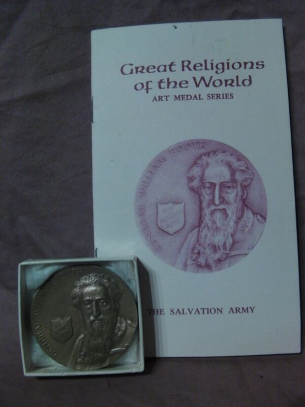 SALVATION ARMY GENERAL WILLIAM BOOTH BRONZE MEDALLION Great Religions MEDAL ART