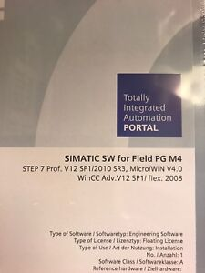 Siemens Simatic PLC Software for Field PG M4 Step 7 Professional