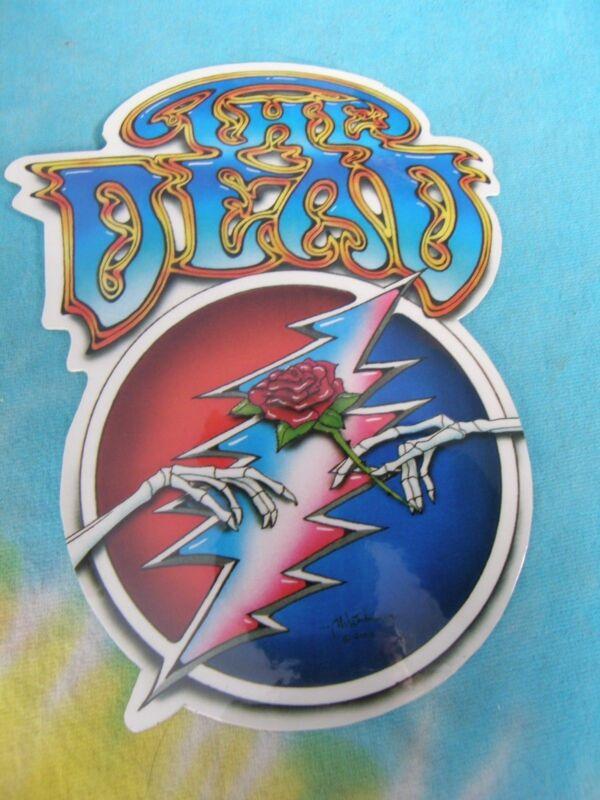 Grateful Dead The Dead Lightning Bolt & Rose 6 Inch Sticker
