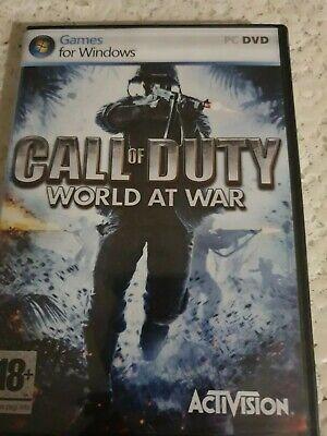 CALL OF DUTY WORLD AT WAR PC DVD _ UK ENGLISH _...