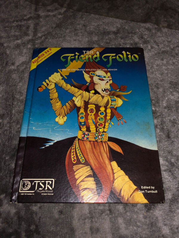 Advanced Dungeons and Dragons Fiend Folio TSR