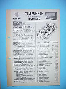 SERVIZIO-MANUALE-DI-ISTRUZIONI-PER-TELEFUNKEN-RITMO-9-ORIGINALE