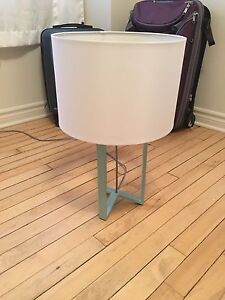 Turquoise Metal Lamp and Shade