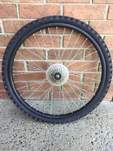 Bicycle rear wheel and tire 26 X 1.95