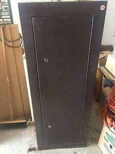 Locking gun cabinet