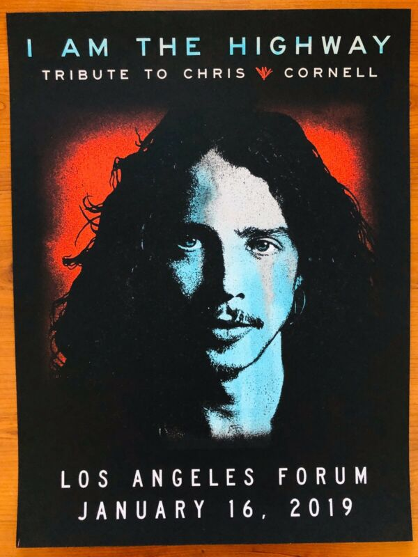 *Chris Cornell I Am The Highway Tribute Los Angeles 1/16/19 Poster by Jeff Ament