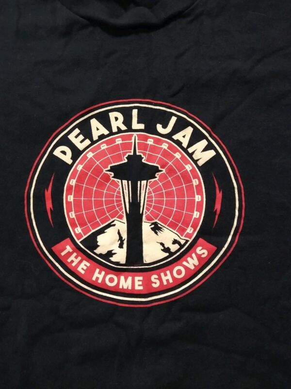 Pearl Jam the Home Shows Seattle t shirt 2018  S Space Needle logo Mt Rainier