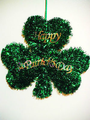 ST PATRICKS DAY WALL HANGER DECORATION TINSEL