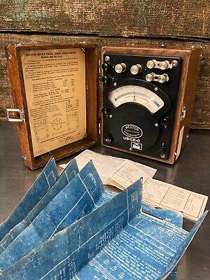 Rare Vintage Antique Weston Model 380 Ac Voltmeter Test Equipment Steampunk