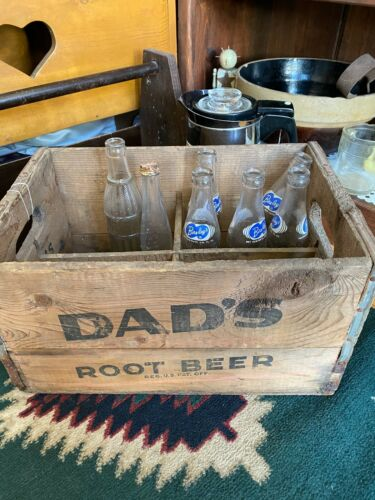Dads old fashioned root beer wood crate vintage