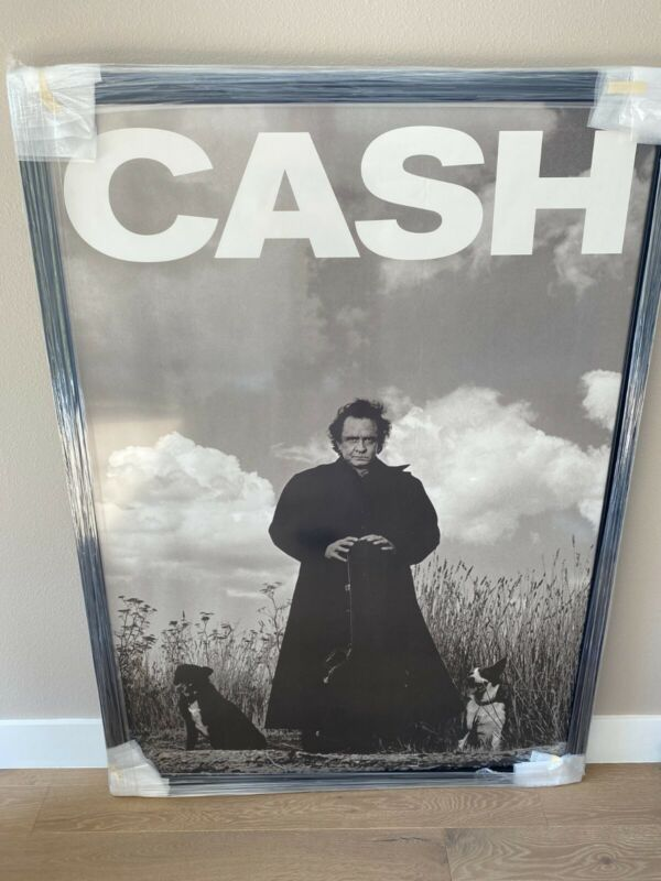 "Johnny Cash ""American Recordings"" HUGE 1994 Promo Poster Very Rare"