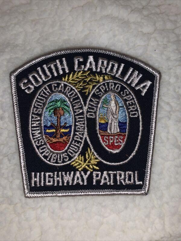 "SOUTH CAROLINA HIGHWAY PATROL PATCH UNUSED Old 3"""