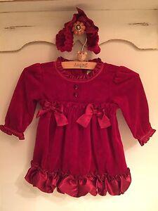 Gorgeous red velvet dress 0-3 m