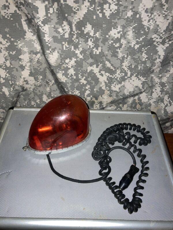 vintage amber emergency light