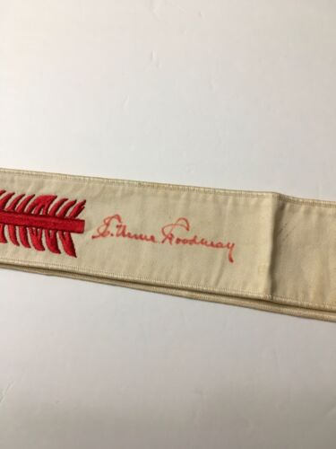 E URNER GOODMAN SIGNED IN RED FOUNDER OF O.A. ORDEAL SASH