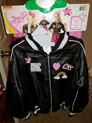 JoJo Siwa Jacket Outfit Nickelodeon Dancer Dress Halloween Costume Size L - Nickelodeon Halloween Costumes