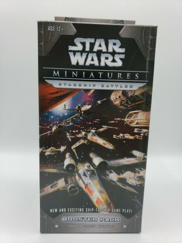 Star Wars Miniatures Starship Battles Booster Pack New Sealed