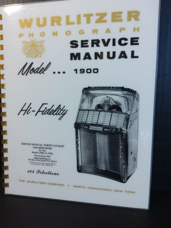 Wurlitzer 1900 Jukebox Service Parts Manual *Read lots included* AMR Deluxe Book