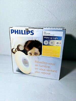 New Philips Wake-Up Light Alarm Clock w/ Sunrise Simulation, White (HF3500/60)