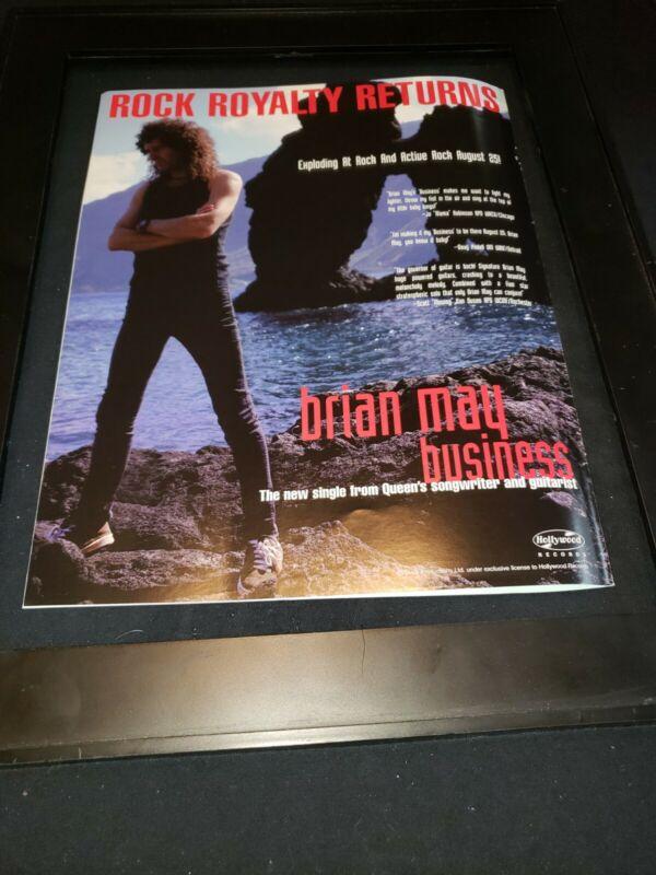 Brian May Business Rare Original Radio Promo Poster Ad Framed! #3