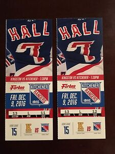 Kitchener Rangers vs Kingston Dec. 9 @7:30