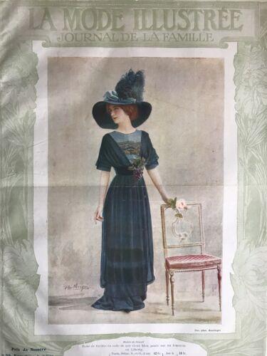 Edwardian MODE ILLUSTREE March 12 & 19,1911+multi sewing PATTERN sheet