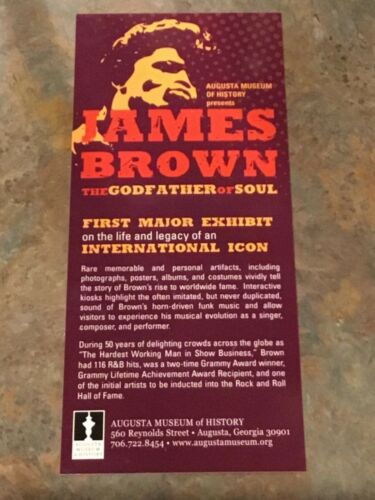 rare JAMES BROWN Augusta Museum of History The Godfather of Soul exhibit Promo C
