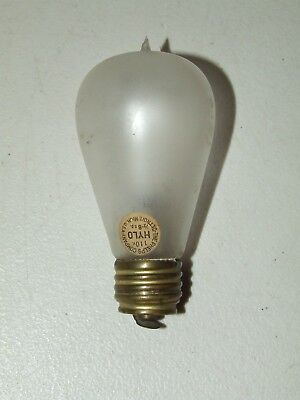 """Antique 1800's PHELPS """"HYLO"""" Frosted Balloon Light Bulb w/ Original Paper Label"""