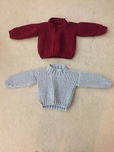 Knitted infant sweaters