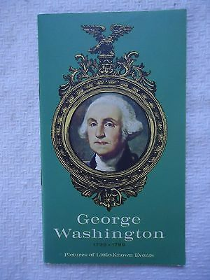 GEORGE WASHINGTON Pictures of Little Known Events Booklet NATIONAL INSURANCE