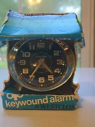 Vintage Westclox Little Ben Key Wound Alarm Clock With Original Box Nos