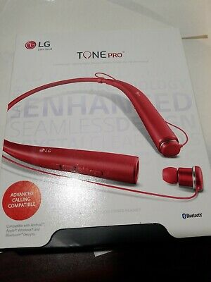 LG Tone Pro HBS-780 Premium Wireless Stereo Bluetooth Headset Authentic RED