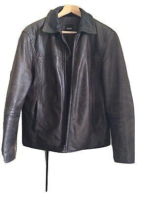 Hugo Boss Padded Cattle Leather Jacket Mens  M