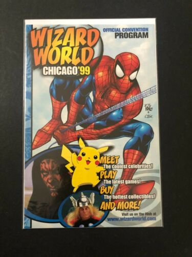 WIZARD WORLD CHICAGO 1999 Official Convention Program | Spiderman, Marvel Comics