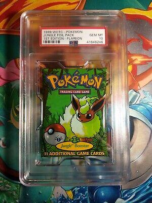 1999 WOTC Pokemon 1st Edition Booster Pack PSA 10 Jungle Flareon Art