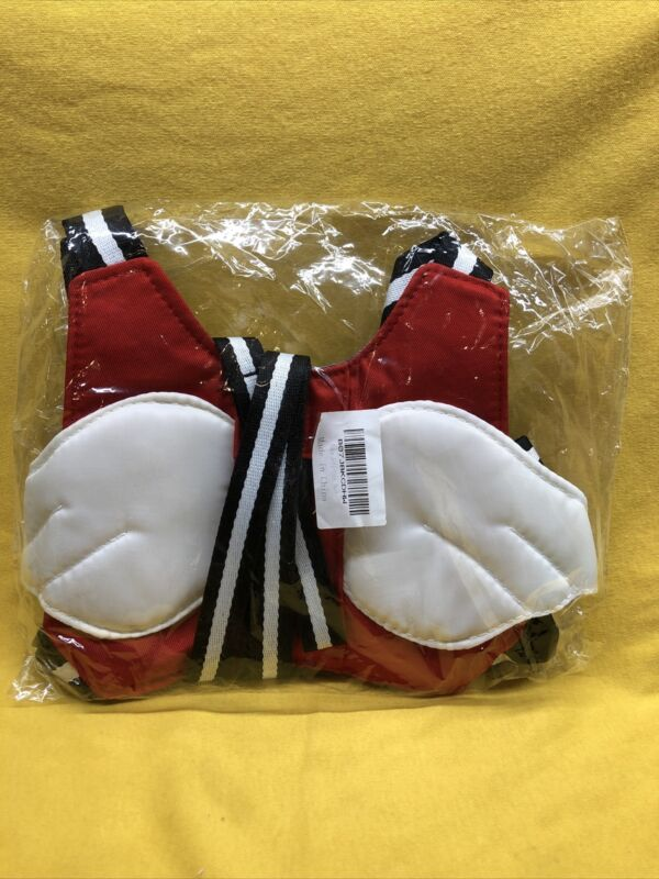 Child Backpack Leash Harness Toddler Baby Anti Lost With Wings Red And White
