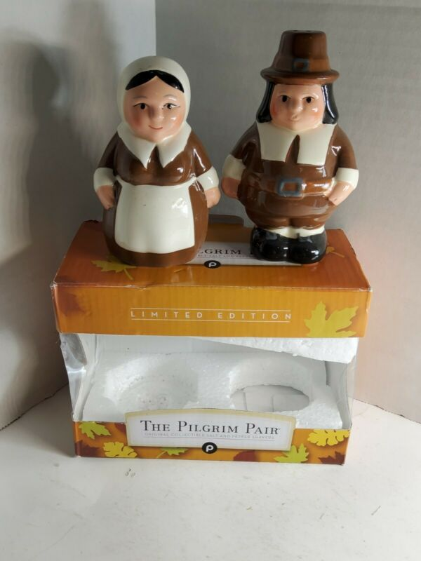 PUBLIX 2016 THE PILGRIM PAIR SALT & PEPPER SHAKER SET THANKSGIVING NEW IOB