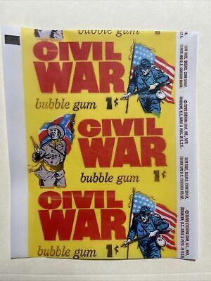 1962 Topps Civil War 1 Cent Wax Wrapper Print