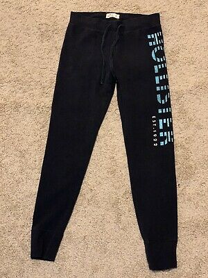Hollister S Navy Skinny Fleece Joggers